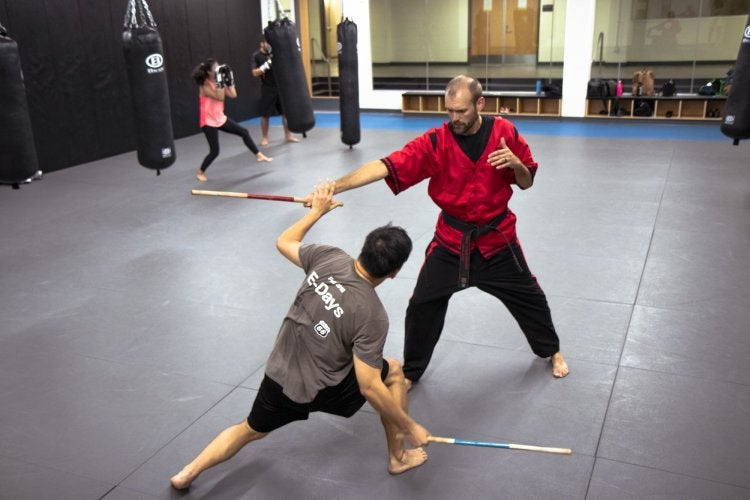 Student learning Kendo