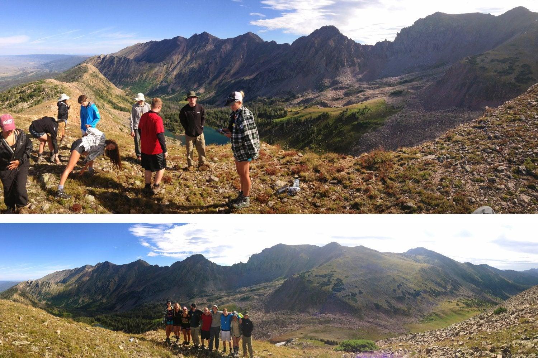 Hiking group photo