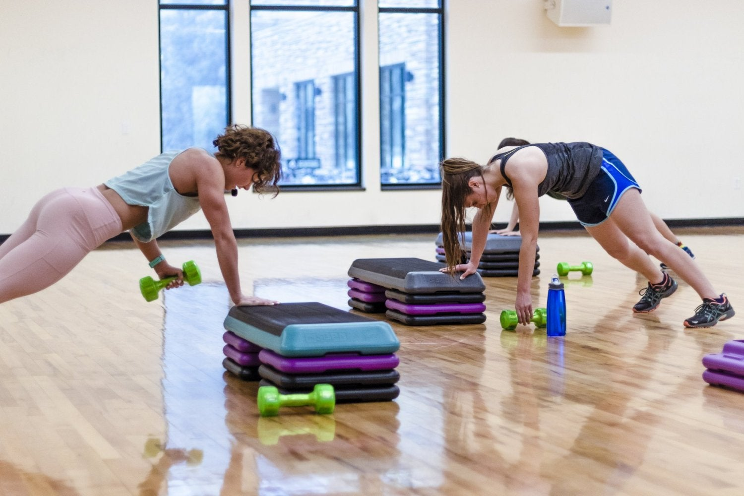 Students in a Tuff Buff workout class