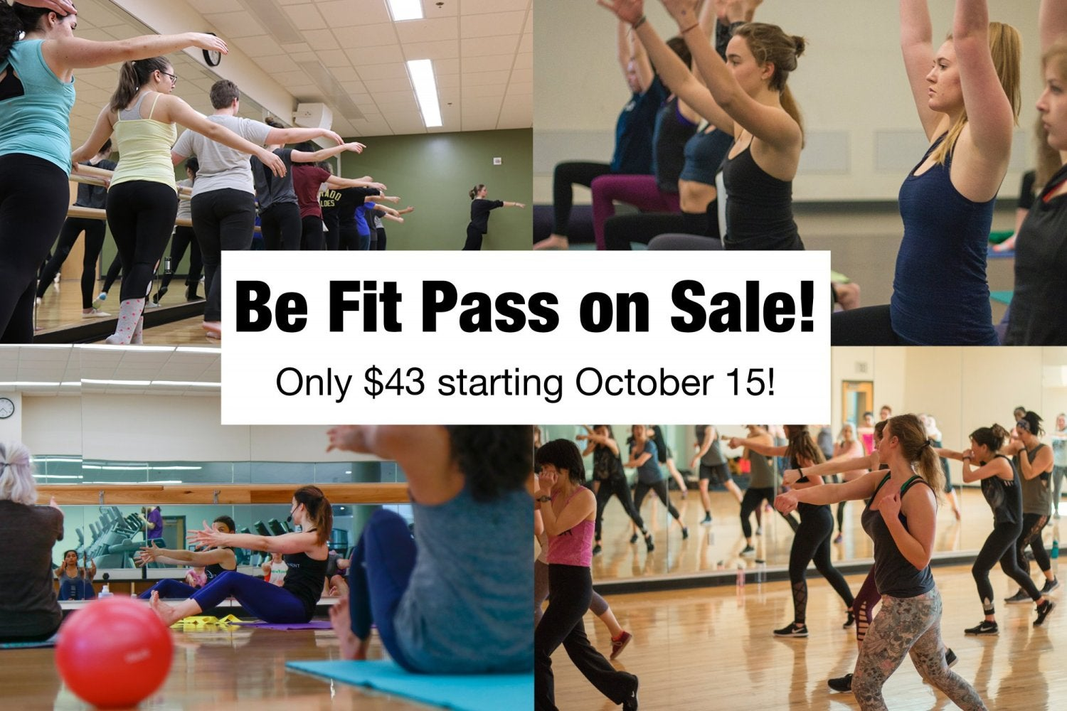 Be Fit Pass on sale now for $43!