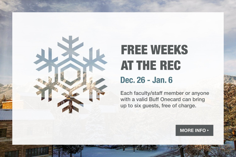 Free weeks at the Rec