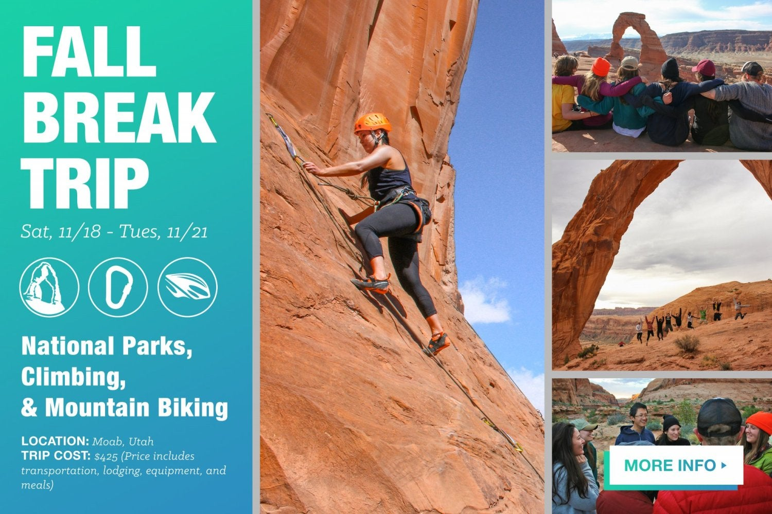 Fall Break Trip to Moab.  Click here for more info