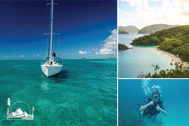 Sail boat and beach