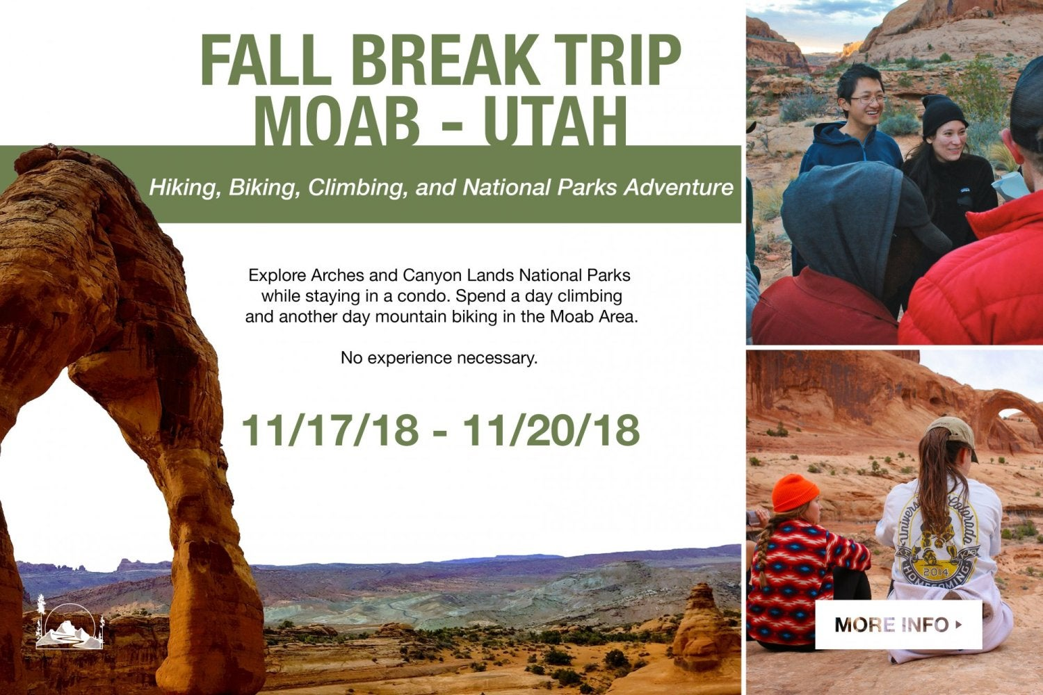 Fall break trip to moab.  click for more information