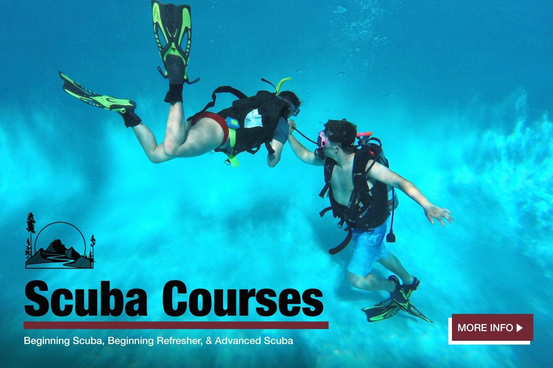 scuba courses.  click for more information