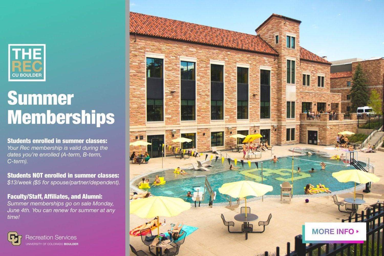 Summer rec memberships.  Click for more information