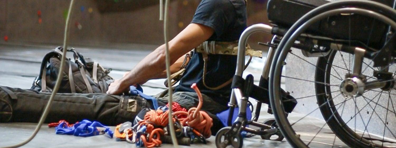 Climber in wheelchair