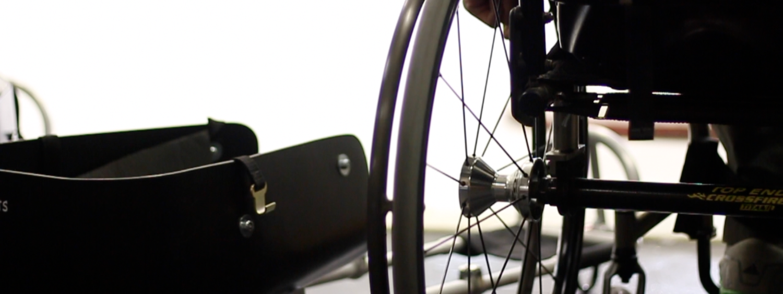 person in wheelchair closeup