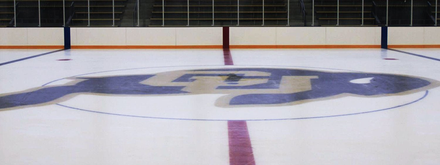 ice rink with CU logo