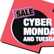 Sale Cyber Monday and Tuesday December 2 - 3
