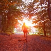 runner running into the sunset