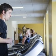 Person on a treadmill