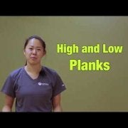 High and Low Planks
