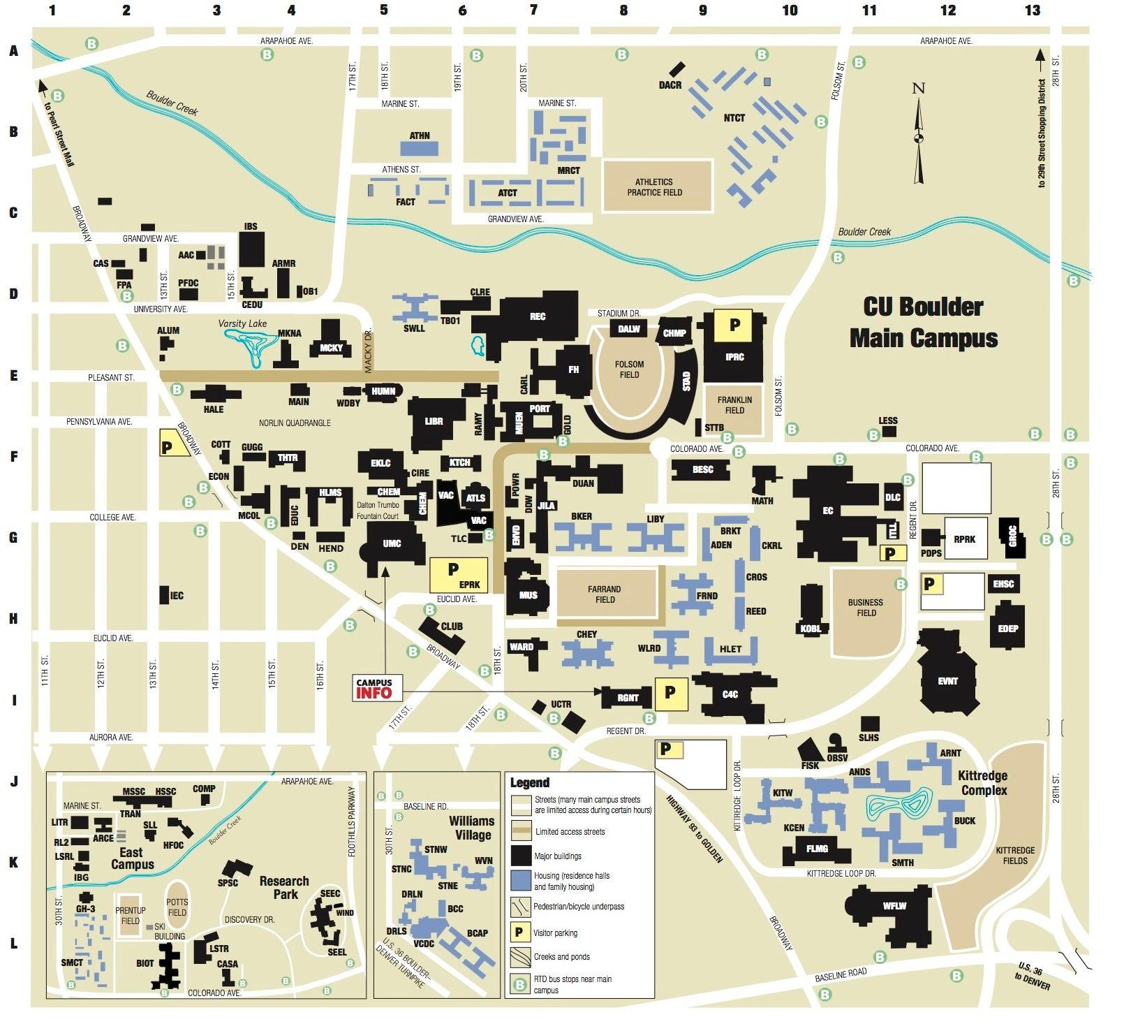 Campus Map < University of Colorado Boulder