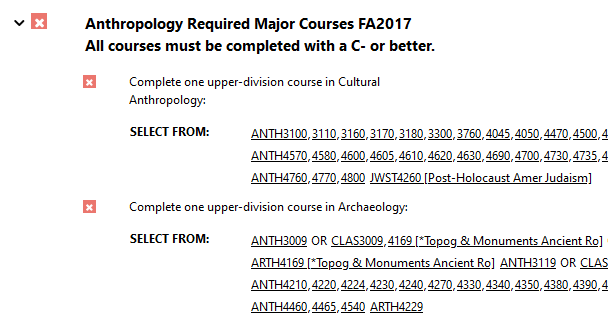 """"""", followed by a list of CU Boulder courses that meet the sub-requirement."""