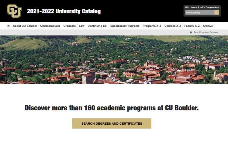Cu Boulder Academic Calendar 2022.Catalog Production Office Of The Registrar University Of Colorado Boulder