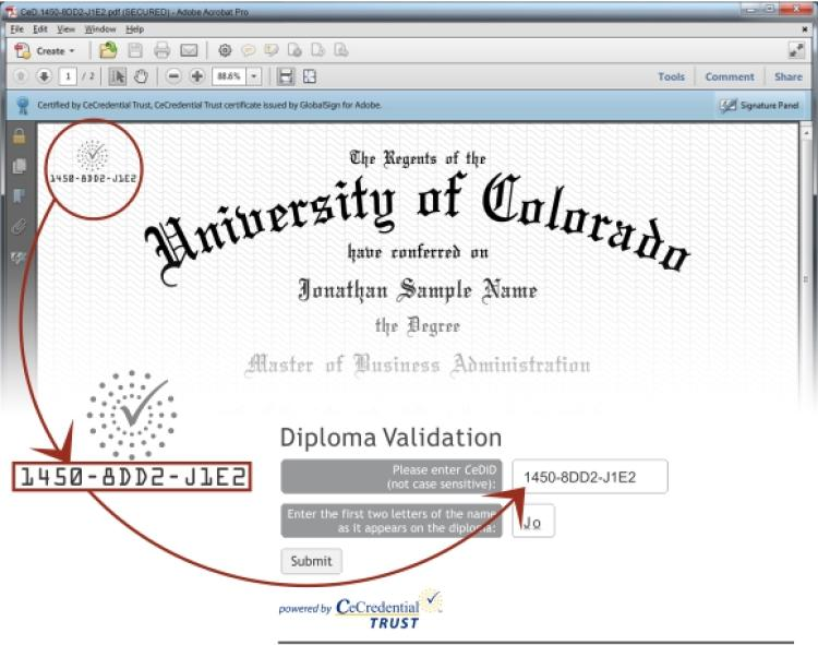 CeDiploma Validation Explanation