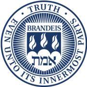 The seal for Brandeis University