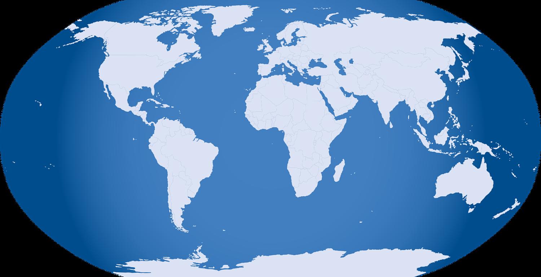 Image of globe flattened