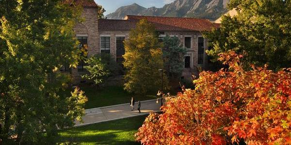 Hellems building in the fall