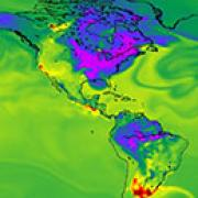 Climate map of North and South America