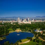 Denver skyline from City Park
