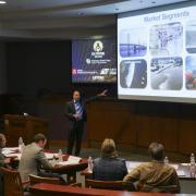 ASTRALite team presenting at Lab Venture Challenge