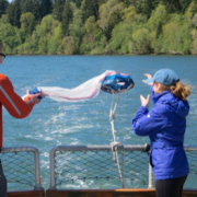 Students on a marine discovery tour in Oregon