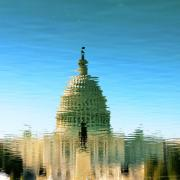 Capitol reflected in water