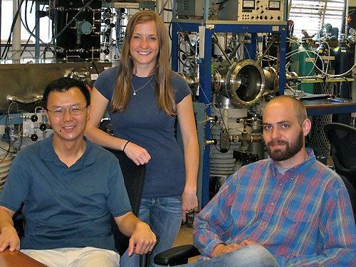 Dr. Zhibo Yang, Callie Cole and Charles Nichols
