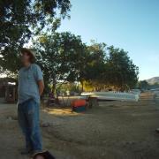 Art Joyce at Laguna Pastoria. / Art Joyce en Laguna Pastoria.