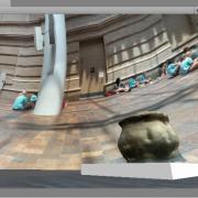 Photogrammetry 3D object displayed within Unity game engine. / Fotogrametría de un objecto en tres dimensiones visto dentro del programa Unity juego.