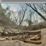 Rio Verde Virtual Field Experience unity game created from spherical photography of Cerro de la Virgen. / Juego 'Rio Verde Virtual Field Experience' creado con fotografía esférica en Cerro de la Virgen.