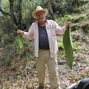 Bill Middleton collecting botanical samples / Bill Middleton recolectando muestras botánicas