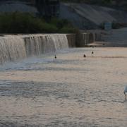 Rio Verde River Dam at Day Break. / La presa por Río Viejo.
