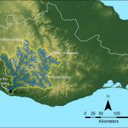 Map of the Río Verde drainage basin / Mapa de la cuenca hidrográfica del río Verde