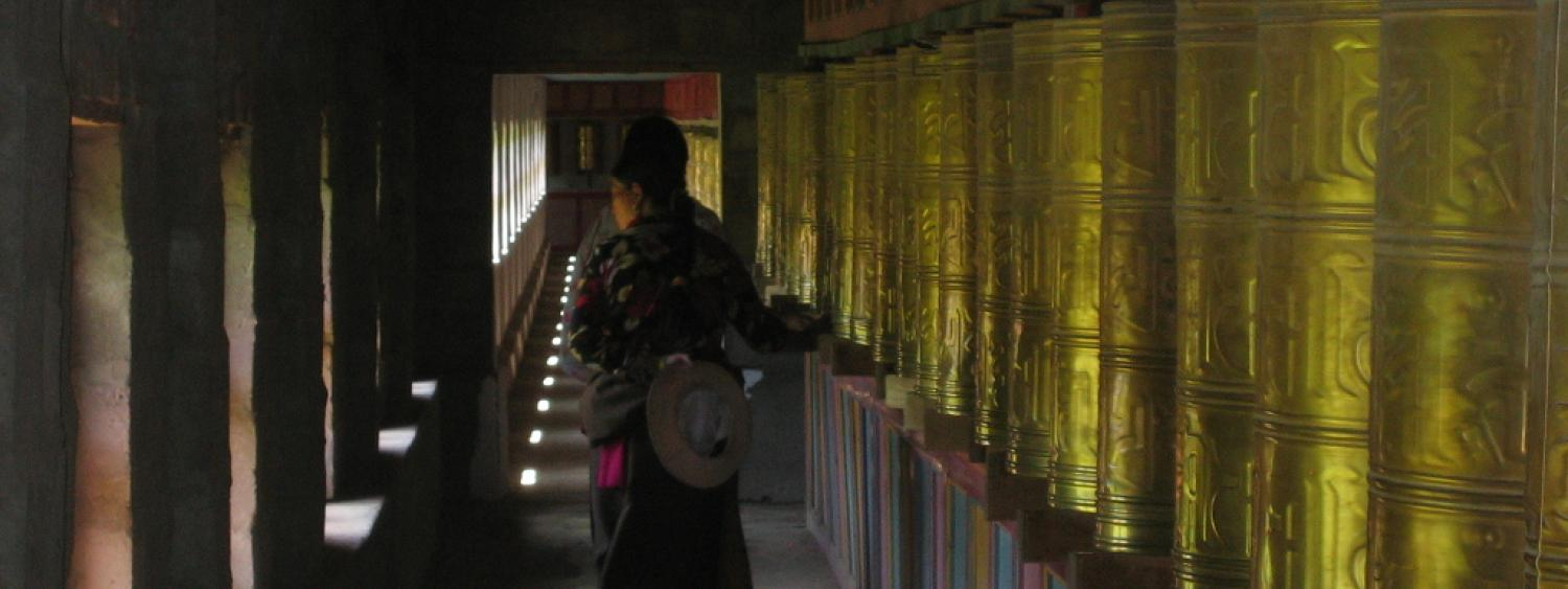 spinning prayer wheels