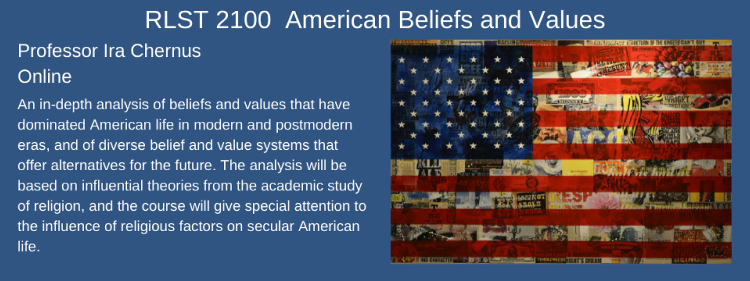 rlst 2100 american beliefs and values