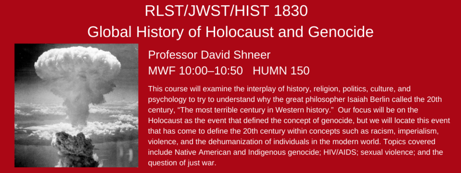 RLST 1830 global history of holocaust