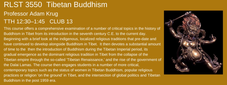 RLST 3550 tibetan buddhism