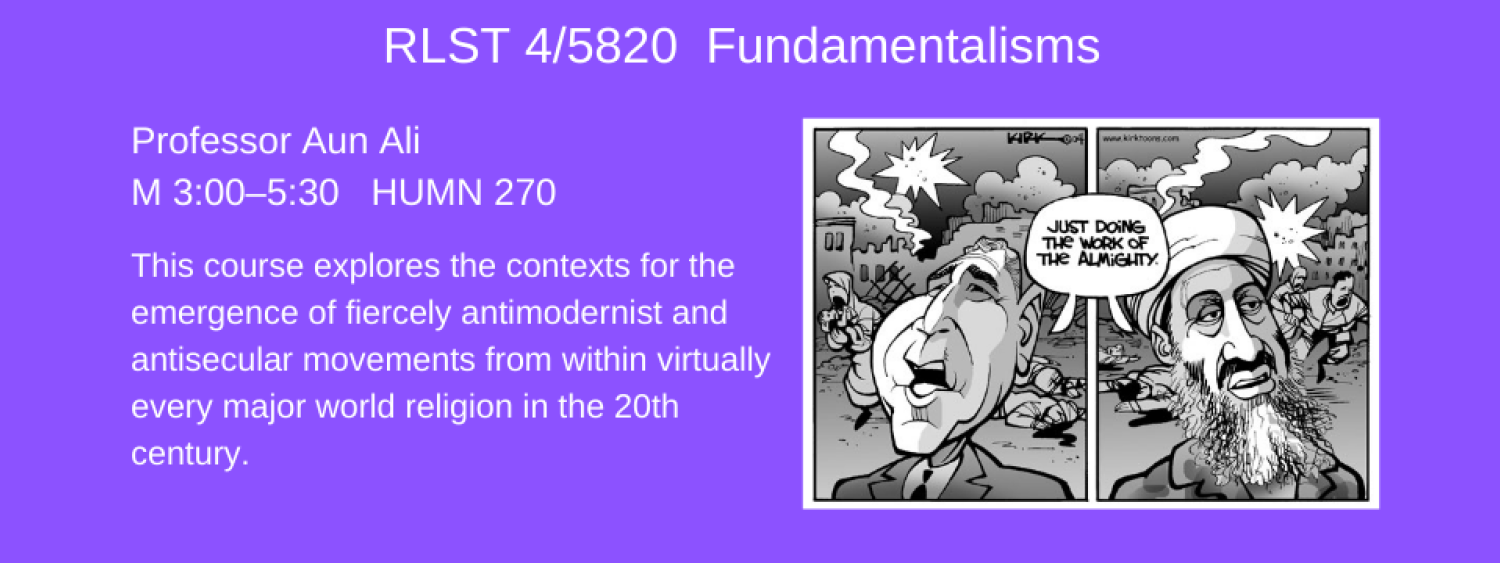 RLST 4820-1 fundamentalisms