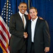Alumni with Obama