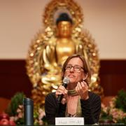 Holly Gayley at Sakyadhita, photo courtesy of Olivier Adam