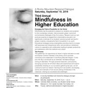Mindfulness in Higher Ed poster