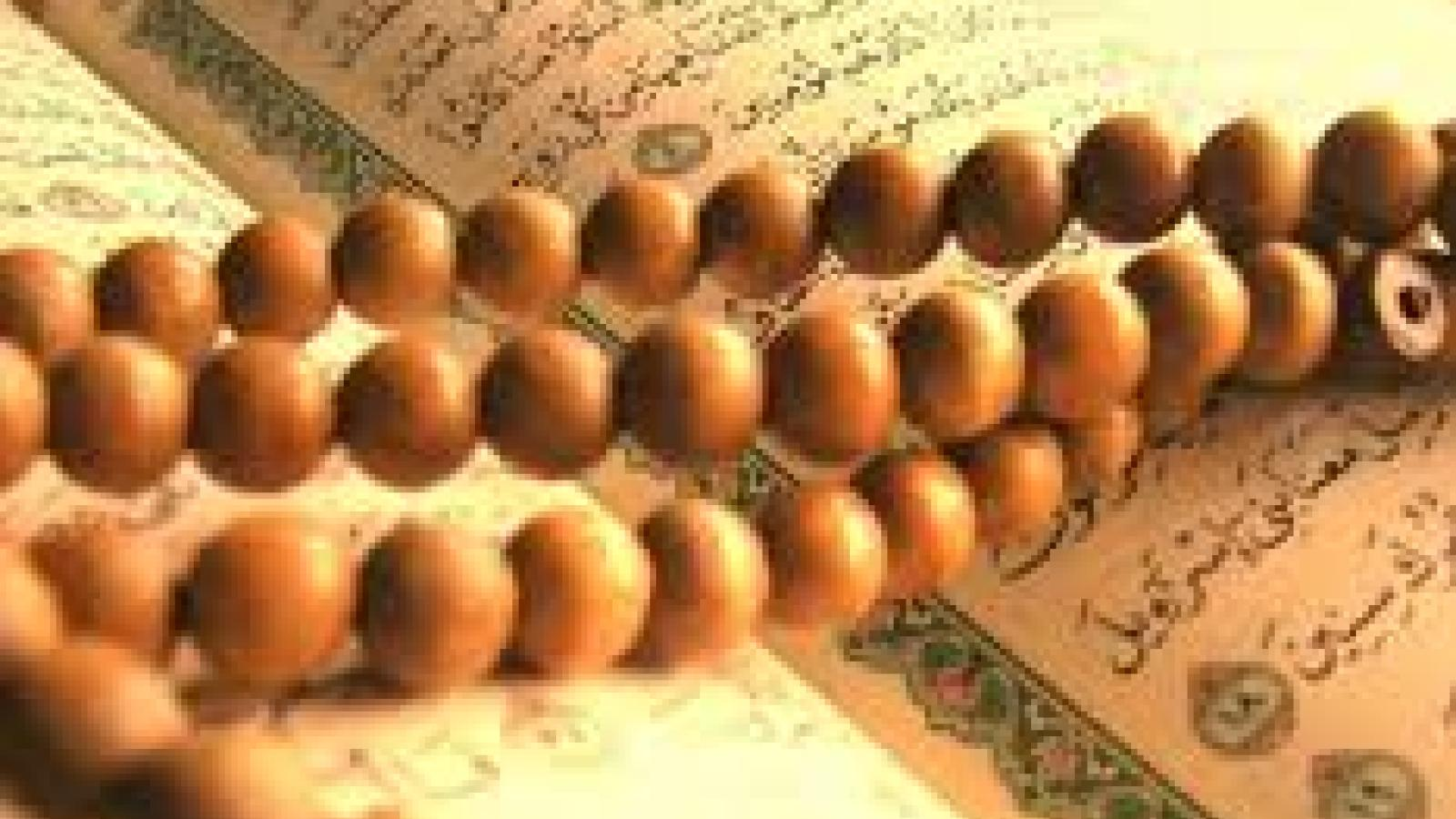 quran and beads