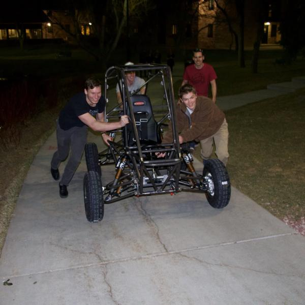 Pushing the rolling chassis