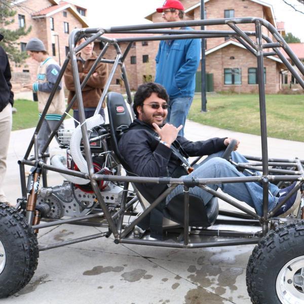 Rishav test driving