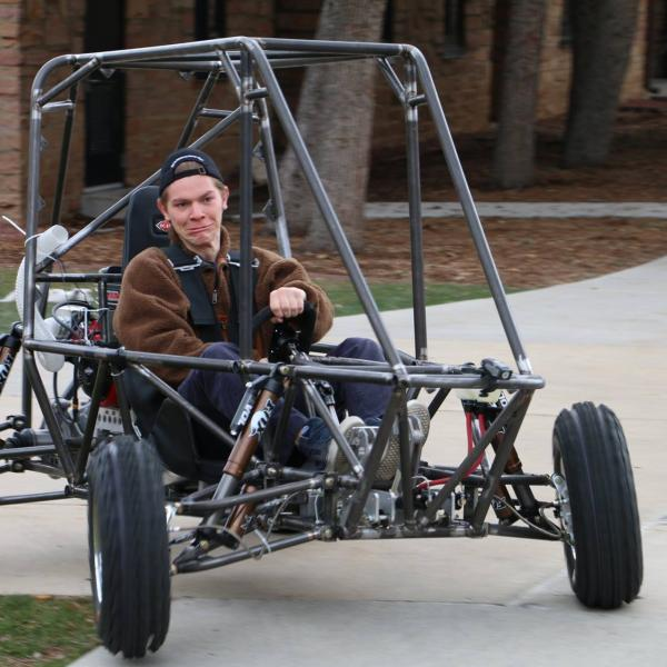 Gardner testing the suspension