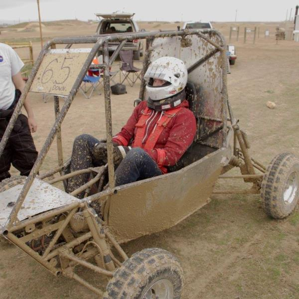 Bryan after his test laps