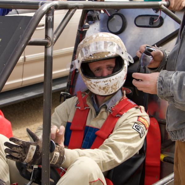 Bill prepping to take laps